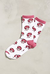Urban Outfitters Pixelated Lady Sock White