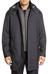 Men's Cole Haan 3 In 1 Longline Rain Jacket Black