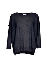 Great Plains Rania Cashmere And Wool Blend Jumper Blue