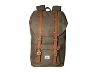 Herschel Little America Canteen Crosshatch Tan Synthetic Leather Backpack Bags