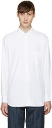 Comme Des Garcons White Brushed Cotton Shirt