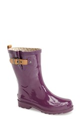 Women's Chooka 'Top Solid Mid Height' Rain Boot Imperial Purple