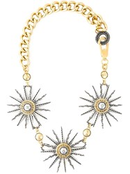 Fausto Puglisi Sun Pendant Chain Necklace Metallic