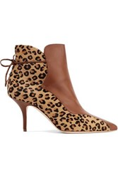 Malone Souliers Jordan Leopard Print Calf Hair And Leather Ankle Boots Leopard Print
