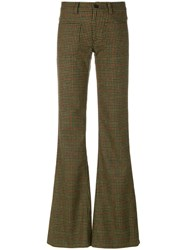 Maison Martin Margiela Tweed Flared Trousers Wool
