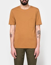 Christophe Lemaire Pocket Tee Shirt In Tobacco