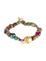 Luis Morais Pearl Emerald And Yellow Gold Bracelet