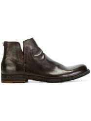 Officine Creative Zip Back Ankle Boots Brown