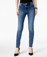 Inc International Concepts Embellished Skinny Jeans Created For Macy's Beautiful Wash