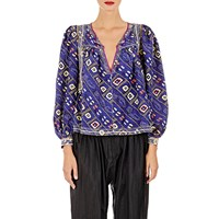 Isabel Marant Georgette Tyron Tunic Blue