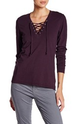 Joe's Jeans Amora Lace Up Tee Purple