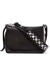 Elizabeth And James Finley Studded Textured Leather Shoulder Bag Black