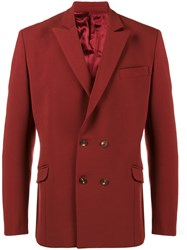 Martine Rose Double Breasted Jacket Polyester Spandex Elastane Acetate Virgin Wool Red