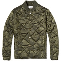 Officine Generale Camo Quilted Jacket Olive