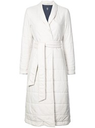 Eleventy Long Padded Coat Nude And Neutrals