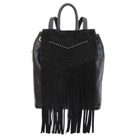 Dolce Vita Collection Handbags Marlowe Leather Backpack With Fringe