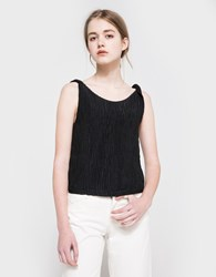 Objects Without Meaning Twist Button Back Top Black