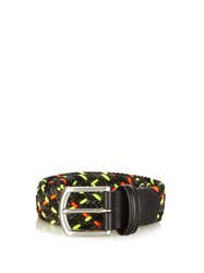 Andersons Woven Elasticated Belt Black Multi