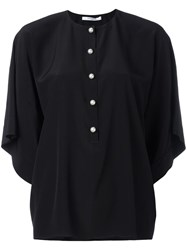 Givenchy Dolman Sleeve Buttoned Blouse Black