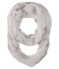 Calvin Klein Solid Chambray Infinity Grey Scarves Gray