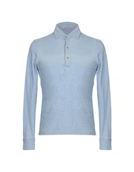 H953 Polo Shirts Sky Blue