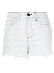 3X1 Carter Denim Shorts Blue