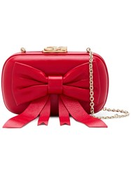 Corto Moltedo Susan Bow Clutch Red
