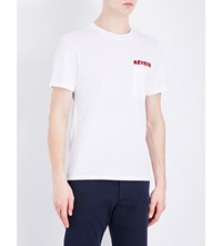 Sandro Reveur Cotton T Shirt White