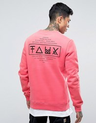 Friend Or Faux Limitless Back Print Sweater Pink