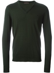 Etro V Neck Jumper Green