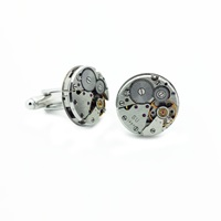 Lc Collection Vintage Watch Movements Cufflinks Silver