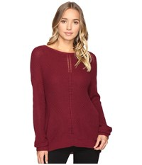 Rvca Thriller Pullover Crew Neck Sweater Scarlet Women's Sweater Red