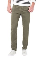 Liverpool Regent Relaxed Straight Leg Twill Pants Olive Mulch