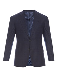 Gieves And Hawkes Checked Single Breasted Flannel Blazer