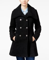 Amy Byer Bcx Juniors' Double Breasted Fit And Flare Pea Coat Black