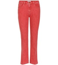Frame Le Crop Mini Boot Mid Rise Jeans Red