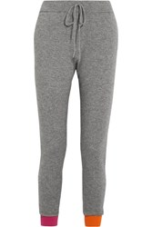 Chinti And Parker Wool Cashmere Blend Track Pants Gray Usd