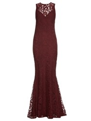 Galvan Corded Lace Gown Burgundy