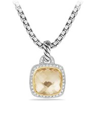 David Yurman Albion Pendant With Diamonds And 18K Gold Champagne Citrine Black Onyx
