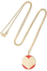 Alison Lou Amour 14 Karat Gold And Enamel Necklace One Size