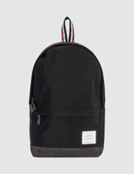 Thom Browne Unstructured Backpack In Nylon Plain Weave Suede