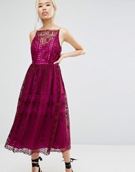 Asos Lace Prom Dress Burgundy Red