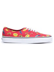 Vans Summer Print Sneakers Red