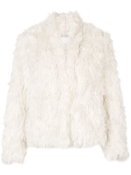 Vince Faux Fur Jacket White