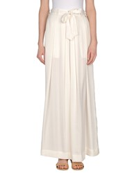 Pepe Jeans Long Skirts White