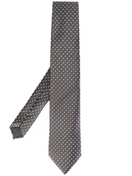 Canali Dotted Pattern Tie Grey