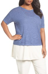 Eileen Fisher Plus Size Women's Organic Linen And Cotton Short Sweater