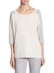 Max Mara Zodiaco Cashmere Sweater Light Grey