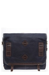 Men's Will Leather Goods 'Mt. Hood' Messenger Bag Blue Navy