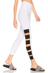 Beyond Yoga Wide Band Stacked Capri Legging White